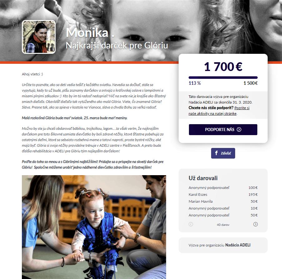 Darcovská výzva pre Nadáciu ADELI